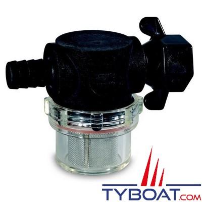 SHURflo - Filtre à eau - Raccord à tournant - 50 microns - Inox - Ø 13 mm