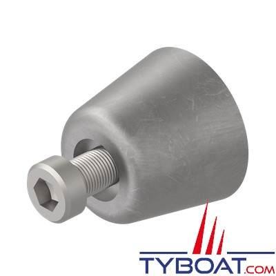 Side Power - 6 1180 - Anode zinc de remplacement pour SR80/100 mécanisme - modèles plus anciens de 4/6 cv avec hélice à 3 pâles