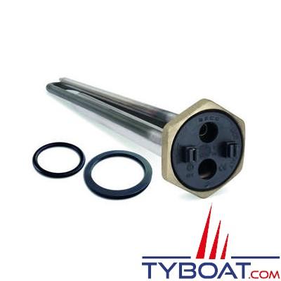 Sigmar - Résistance inox pour chauffe-eau - 230 Volts - 1200 Watts - Noir