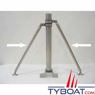 SILENT WIND - Jambes de force pour kit fixation 2 x 2 mètres Ø 19 mm