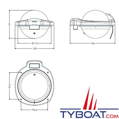 Silva - Compas 102B/H montage cloison
