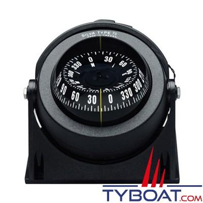 Silva - Compas 70 NBC/FBC sur étrier ou à encastrer pour bateau à moteur.