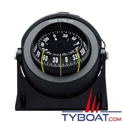 SILVA - Compas de route 100 NBC/FBC sur étrier ou à encastrer pour bateau à moteur.