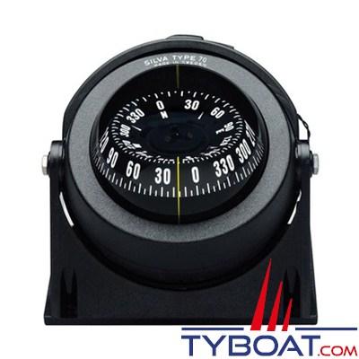 SILVA - Compas de route 70 NBC/FBC sur étrier ou à encastrer pour bateau à moteur.