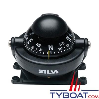 SILVA- Compas de route C58 sur étrier pour bateau à moteur.