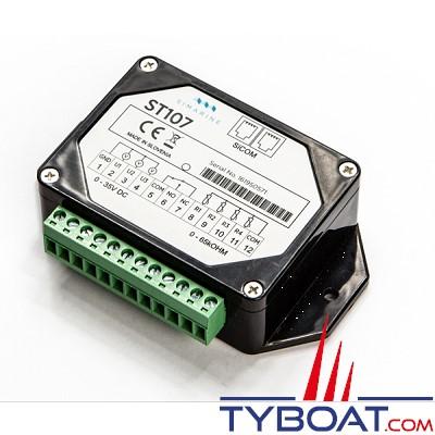 SIMARINE - Pack PICO STANDARD + Shunt SC300 + Module ST107  - Gestionnaire de batterie WIFI avec affichage Haute définition