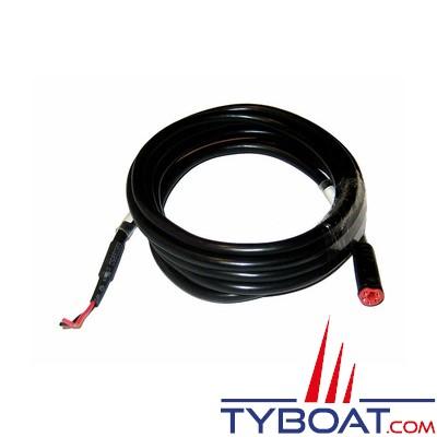 SIMRAD câble d'alimentation SIMNET avec terminaison 2 mètres rouge