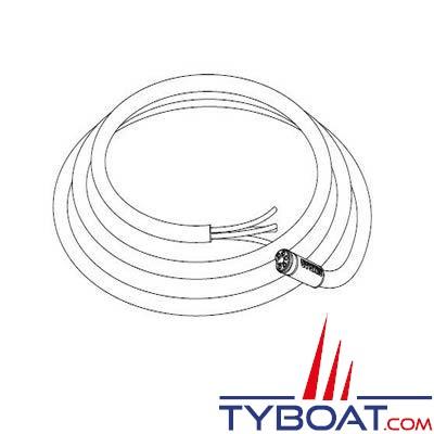 SIMRAD câble d'alimentation SIMNET sans terminaison 2 mètres jaune