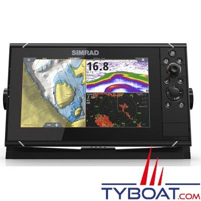 SIMRAD - Multifonctions NSS9 Evo3 - Hybride (tactile/clavier) - GPS / sondeurs CHIRP double / StructureScan HD intégrés / GoFree