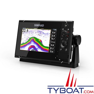 SIMRAD - Multifonctions NSS7 Evo3 hybride (tactile/clavier) - GPS / sondeurs CHIRP double / StructureScan HD intégrés / GoFree