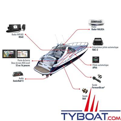 SIMRAD - Multifonctions NSS9 Evo3S - Hybride (tactile/clavier) - GPS / sondeurs CHIRP / Processeur iMX 8