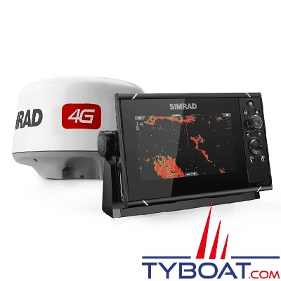 SIMRAD - PACK Multifonctions NSS9 Evo3 et RADAR 4G - GPS / sondeurs CHIRP double / StructureScan HD intégrés / GoFree