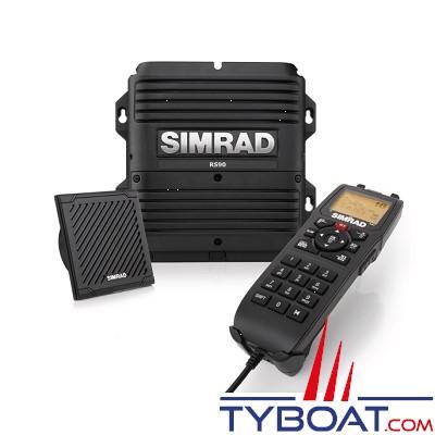 Simrad - VHF marine fixe RS90S avec récepteurs AIS et GPS intégrés et prise en charge de 6 combinés