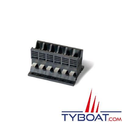 Socle enfichable  6 voies pour interrupteur/disjoncteur ETA type 1170/ 1610 / 227 (cosses Fast On)