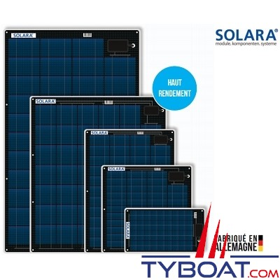 SOLARA - Panneaux solaires - Semi-Flexibles - 140 Watts - 1500 x 543 x 3 mm