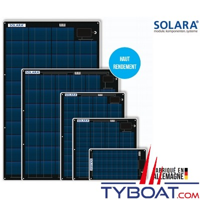 SOLARA - Panneaux solaires - Semi-Flexibles - 80 Watts - 798 x 695 x 3 mm