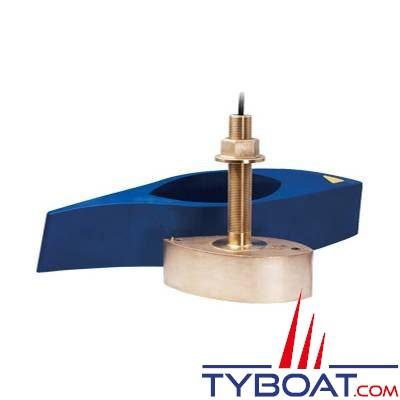Airmar - Sonde CHIRP B275LHW WIDE (basses et hautes fréquences) DT XID 42-65/150-250 KHz 1KW traversante bronze profondeur et température