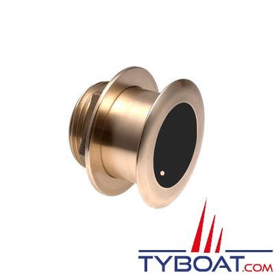 Sonde CHIRP Airmar B175L (basses fréquences)  DT XID 40-60 kHz 1 kW traversante bronze profondeur et température / angle 20°