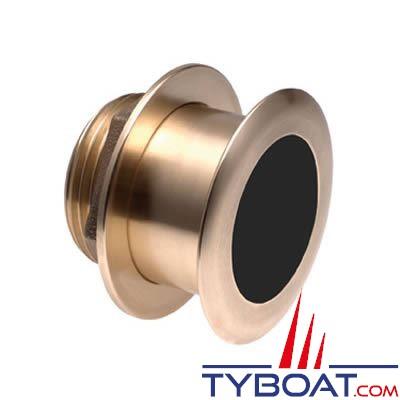 Sonde traversante bronze Airmar B164 DT XID 1Kw - 50/200 KHz - profondeur et température - connecteur Airmar - Angle 20°