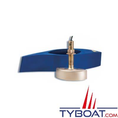 Sonde traversante bronze Airmar B258 1Kw - 50/200 KHz profondeur et température - connecteur Bleu Simrad / Lowrance / B&G