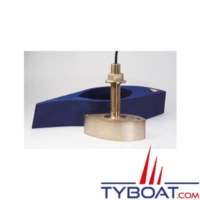 AIRMAR - Sonde traversante bronze B260 DT 1KW - 50/200 KHz  - profondeur et température - connecteur Bleu 7 PIN - avec fairing
