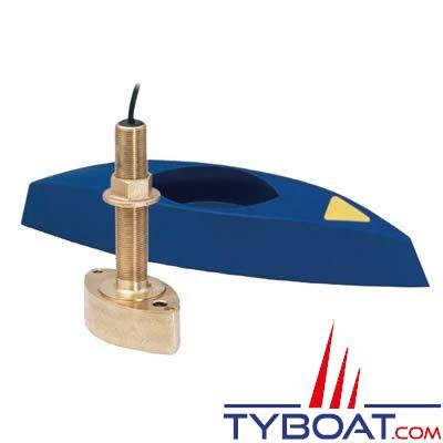 Sonde traversante bronze Airmar B45 DT 600W 50/200 KHz profondeur et température avec connecteur Airmar