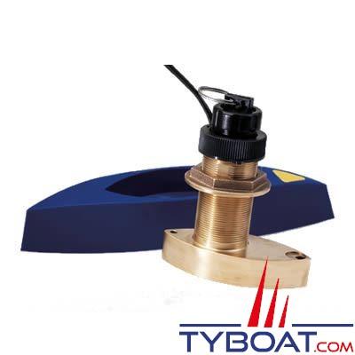 Sonde traversante bronze Airmar B744V 600W - 50/200 KHz triducer avec fairing block - connecteur LT6 Simrad Nx 40/45 Northstar série M