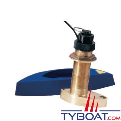 Sonde traversante bronze Airmar B744VL 600W - 50/200 KHz avec fairaing block - connecteur LT6 Simrad Nx 40/45 Northstar série M