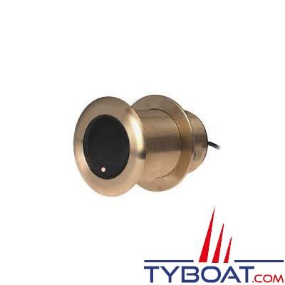 GARMIN - Sonde traversante bronze  - B75M - 600W - 80/130 KHz - Profondeur et température - Angle  0° - Connecteur GARMIN 8 broches