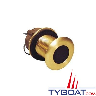 Sonde traversante bronze Furuno SB50200TR-1 (Airmar B60) 600W 50/200 KHz (45/12°) profondeur et température - angle céramique 12°