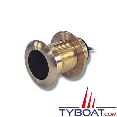 Sonde traversante bronze Furuno SB50200TR-3 (Airmar B60) 600W 50/200 KHz profondeur et température - angle de la lentille 20°