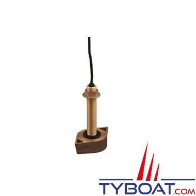 Sonde traversante bronze Koden TD-500T-3B 600W 50/200 KHz avec 9m de câble
