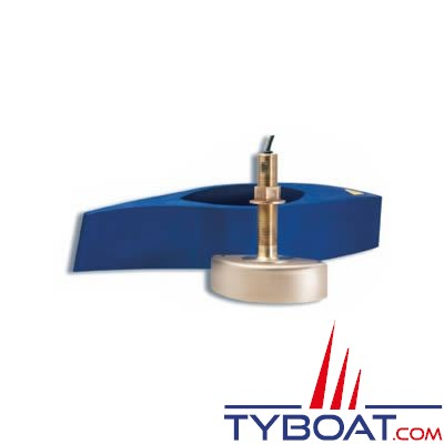 Sonde traversante bronze Raymarine B258 1Kw 50/200 KHz avec fairing block