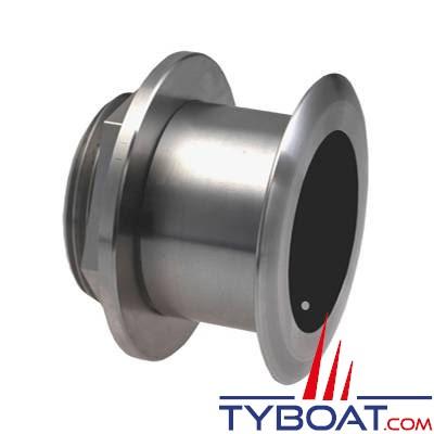 Sonde traversante inox Airmar SS164 DT XID 1Kw - 50/200 KHz - profondeur et température - connecteur Airmar - Angle 20°