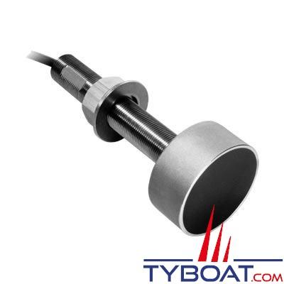 Sonde traversante inox Airmar SS505 DT 600W 50/200 KHz profondeur et température avec connecteur Airmar