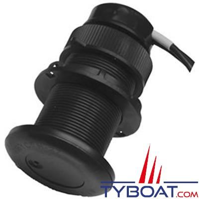 Airmar - Sonde traversante plastique - DT800 - 100W - Angle 0° - 235 KHz profondeur et température - NMEA0183