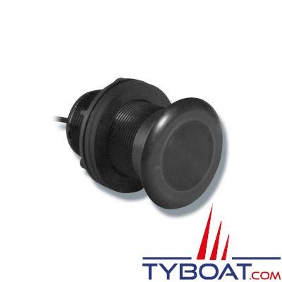 Sonde traversante plastique Airmar P319 DT 600W 50/200 KHz profondeur et température avec connecteur Airmar