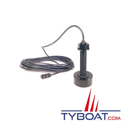 Sonde traversante plastique Koden TD-500T-2B 600W 50/200 KHz avec 9m de câble