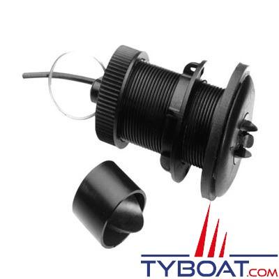 Raymarine - E26031 - Sonde traversante plastique triducer Loch/Speedo/Température pour ST40/i40/ST60/ ST60+/i50/ ST70 avec câble 13,80 m.