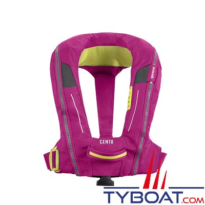 SPINLOCK - DECKVEST CENTO JUNIOR - 100N  - Gilet de sauvetage automatique - Grenadine pink - Junior