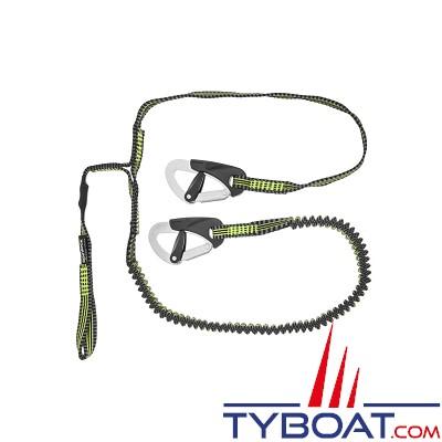 SPINLOCK - DW-STR/3L Longe de vie de harnais - Ultra légère et compacte - 2 + 1 mètres - 2 mousquetons