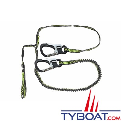 Spinlock - Longe de vie de harnais - Ultra légère et compacte - 2+1 mètres - 2 mousquetons