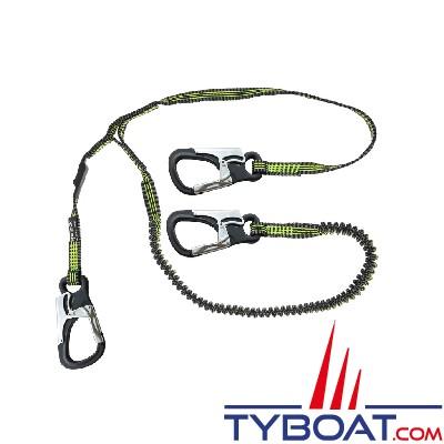 Spinlock - Longe de vie de harnais - Ultra légère et compacte - 2+1 mètres - 3 mousquetons