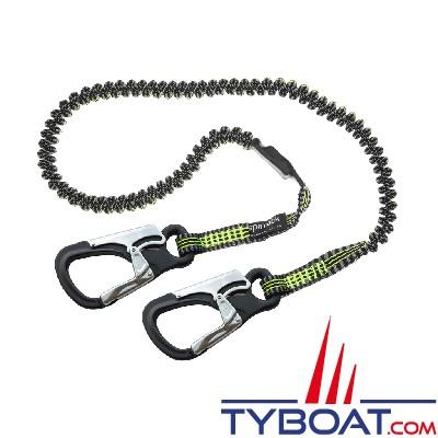Spinlock - Longe de vie de harnais - Ultra légère et compacte - 2 mètres - 2 mousquetons