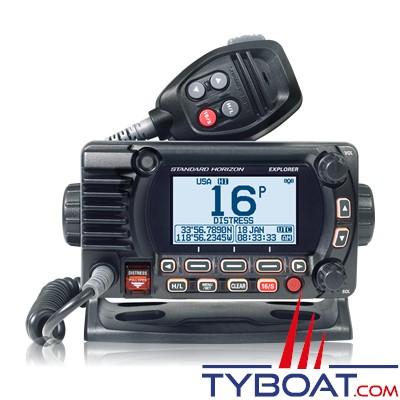 Standard Horizon - VHF fixe GX 1850 - classe D - IPX8 - noire - NMEA2000 avec GPS integré.