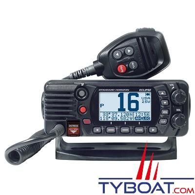 Standard Horizon - VHF fixe compacte STH-GX1400 25W classe D étanche IPX8 noire avec antenne GPS interne