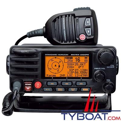 Standard Horizon - VHF marine fixe GX2200E GPS et AIS intégrés - ASN/DSC - 25 Watts - IPX 7 étanche