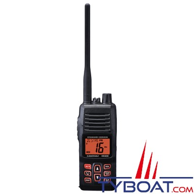 Standard Horizon - VHF marine portable HX400E - 5 watts - IPX 8 étanche - 40 canaux programmables
