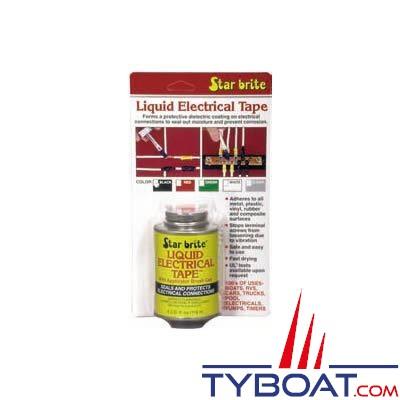 Star-Brite Liquid Electric Tape - Isolation des connexions électriques - 118 ml - Transparent.