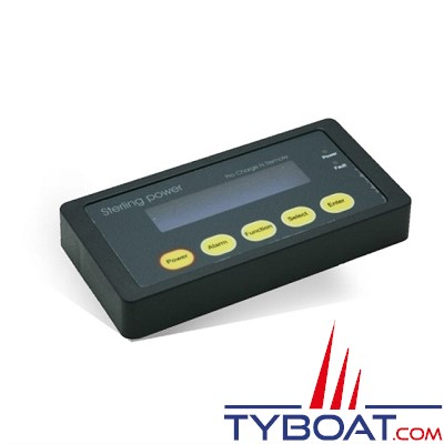 Sterling Power - Panneau de contrôle pour chargeur d'alternateur  - 12 volts - 80/130/300/400 ampères et 24 volts - 80/200 ampères